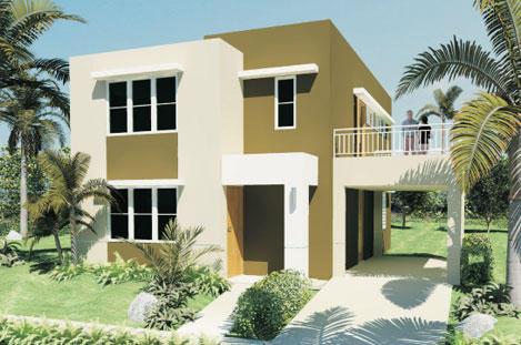 50 modelos de fachadas residenciales de todos los estilos for Casas residenciales minimalistas