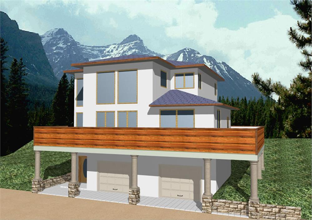 Fachada Minimalista Dos Plantas Casas Con Fachadas Para Un Piso - Fachada-de-casas-de-dos-plantas