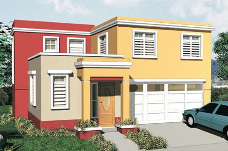 Fachadas minimalistas fachadas de casas for Modelos de casas minimalistas de una planta