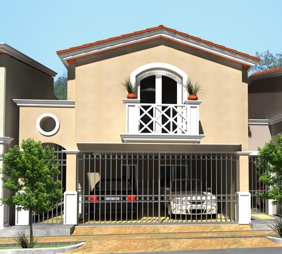 fachada casa mexicana