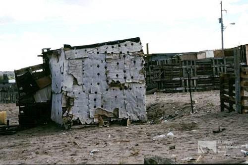 Fachadas de casas pobres