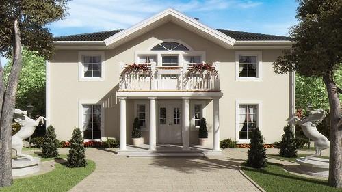 50 modelos de fachadas residenciales de todos los estilos for Fachadas chalets clasicos