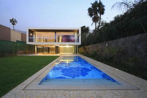Fachadas de casas for Casas con piscinas fotos