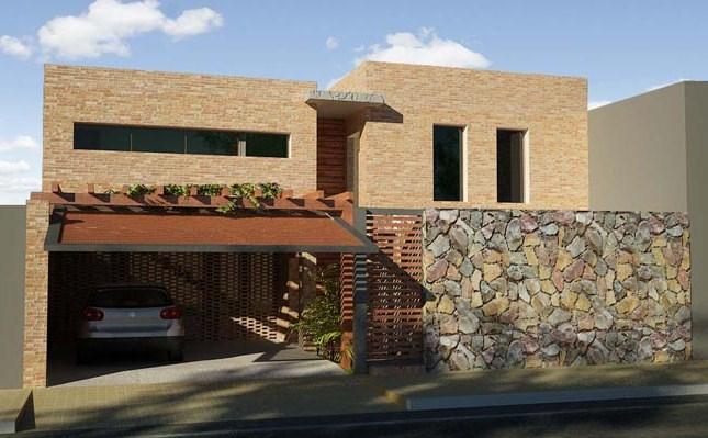50 modelos de fachadas residenciales de todos los estilos todo fachadas - Casas de una planta rusticas ...