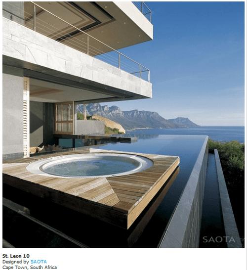fachadas de casas con piscinas