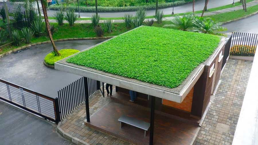 Fachadas verdes mira estos modelos y aprende por qu son for Techos y paredes verdes