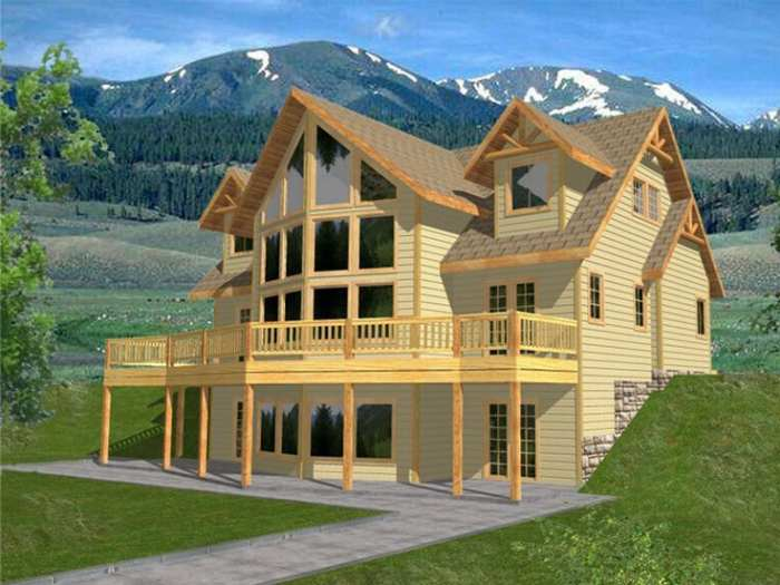 Fachadas campestres todo fachadas for Mountain house plans with a view