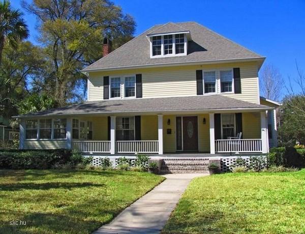 11 fachadas americanas de ensue o fachadas de casas for Fachadas de casas americanas