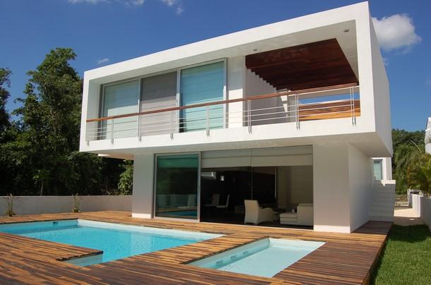 Casas minimalistas modernas fachadas de casas for Proyectos casas minimalistas