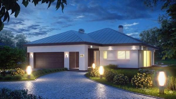 Casas modernas de una planta todo fachadas for Fotos de casas de una planta