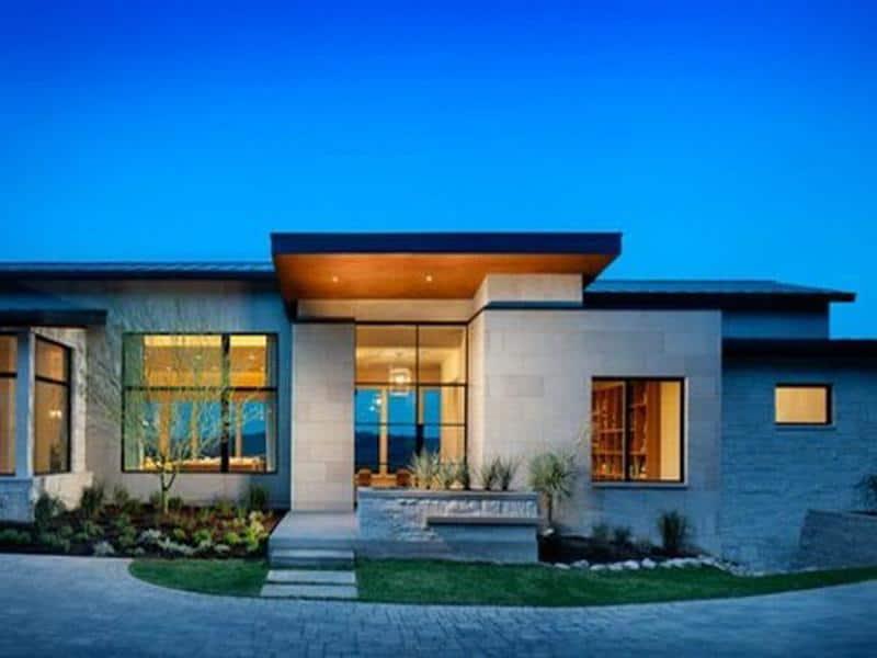 Casas modernas de una planta todo fachadas for Fachadas modernas de una planta