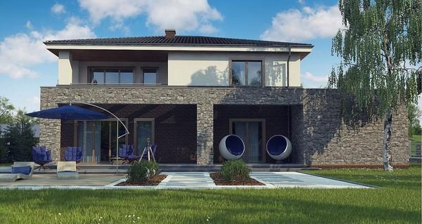 Elegantes chalets de piedra todo fachadas for Casas chalet modernas