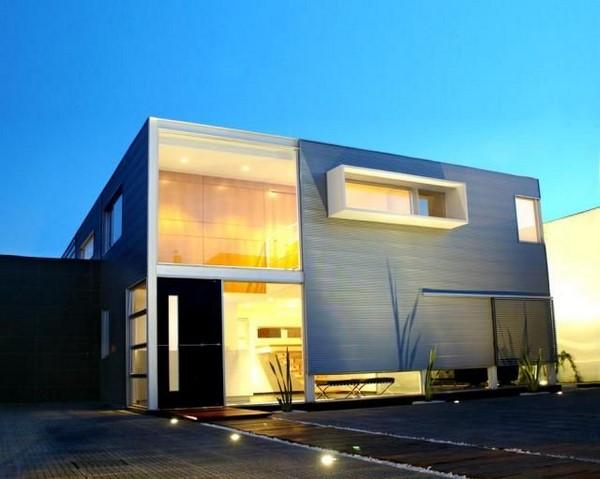 Casas minimalistas de dos plantas todo fachadas for Casas estilo minimalista de dos plantas