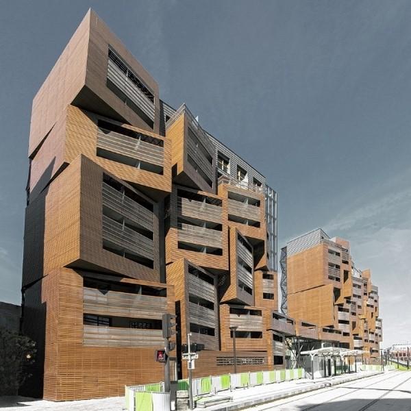 Departamentos modernos fachadas de casas for Departamentos modernos fotos