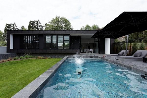 fachadas modernas de una planta fachadas de casas. Black Bedroom Furniture Sets. Home Design Ideas