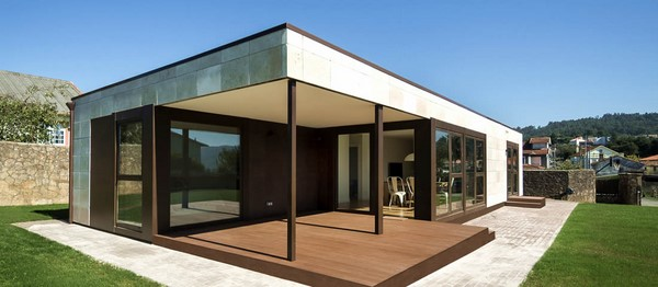 La simpleza y belleza de las fachadas modulares fachadas de casas - Construcciones baratas ...