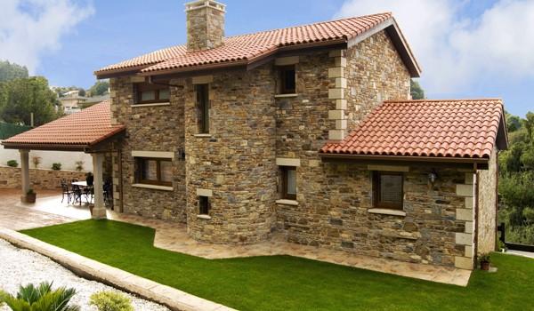 Lo bonito de las fachadas de ladrillo y piedra todo fachadas for Casas modernas ladrillo