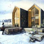 Casa Prefabricada de fácil instalación y alimentada por energía solar