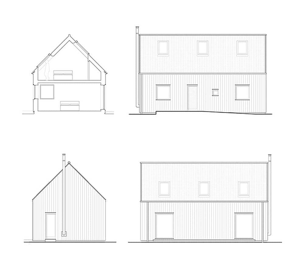 Diseño de la fachada de la casa