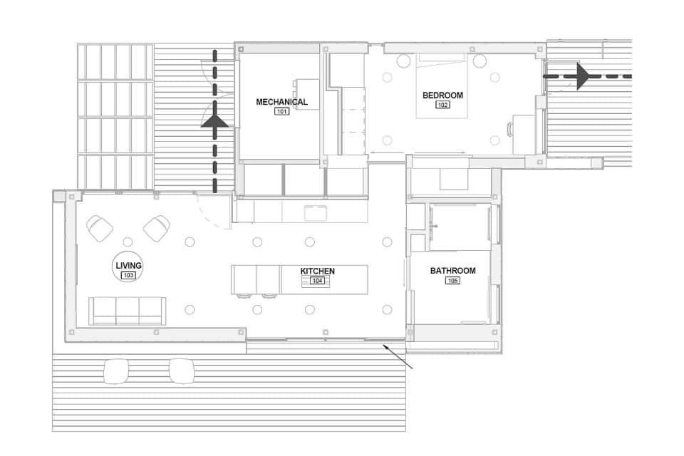 Diseño moderno de plano