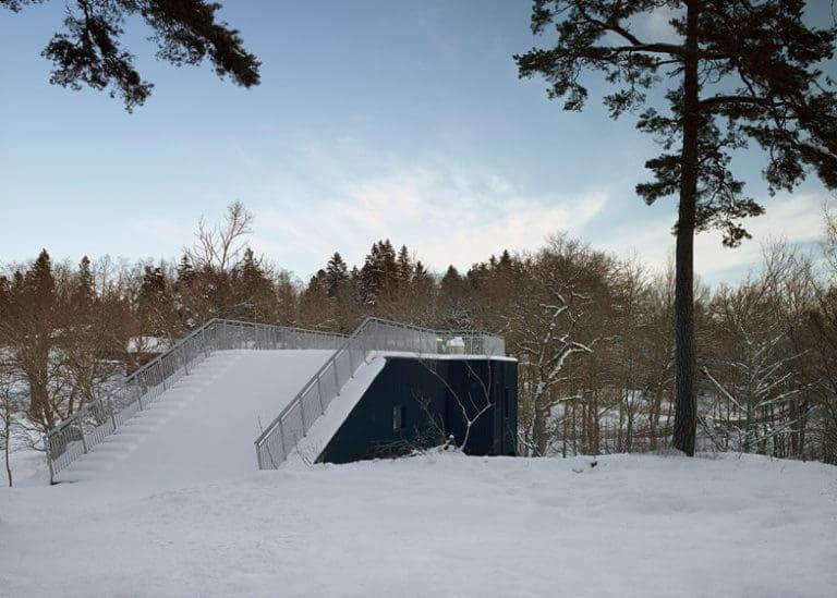 Llena de nieve