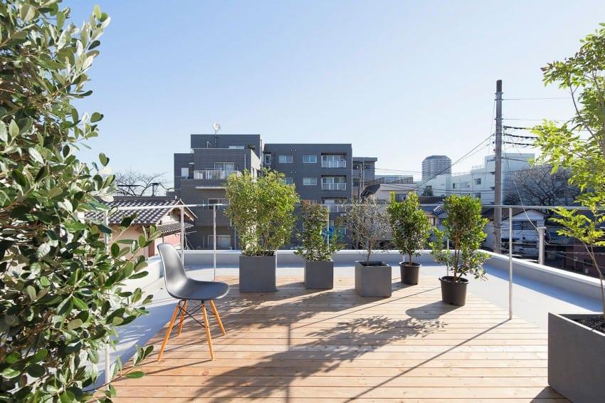 Una terraza grande