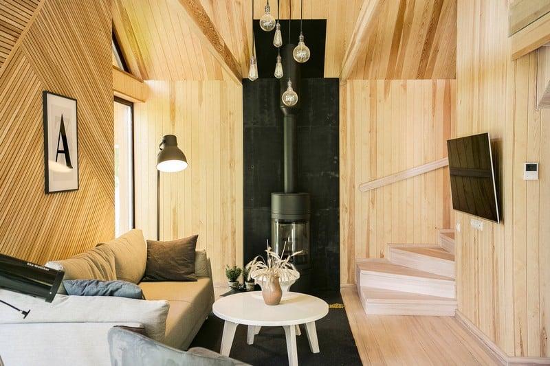 Color madera con diseño amplio