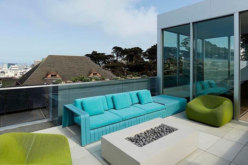 Un diseño con terraza