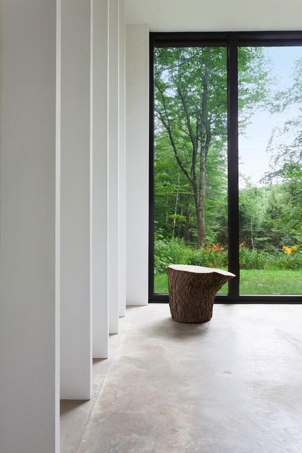 Modernas cortinas y ventanas