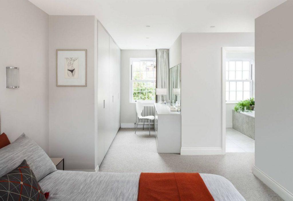 Casa con diseño blanco