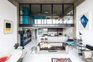 Apartamento contemporáneo con influencias industriales en el Londres moderno