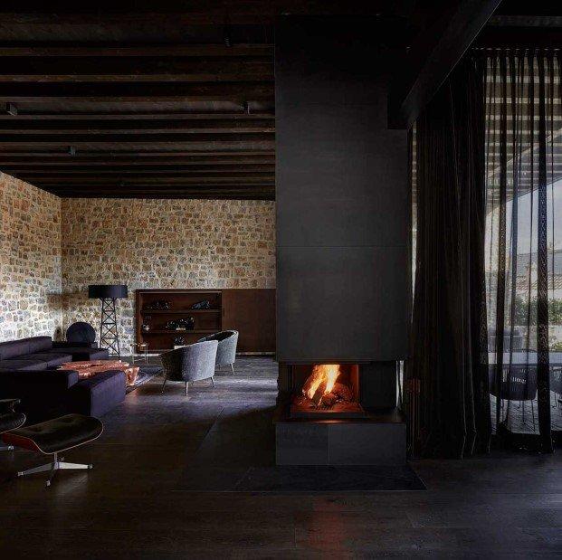 Diseño perfecto de chimenea moderna