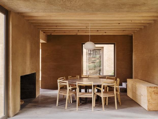 Una cocina toda de madera