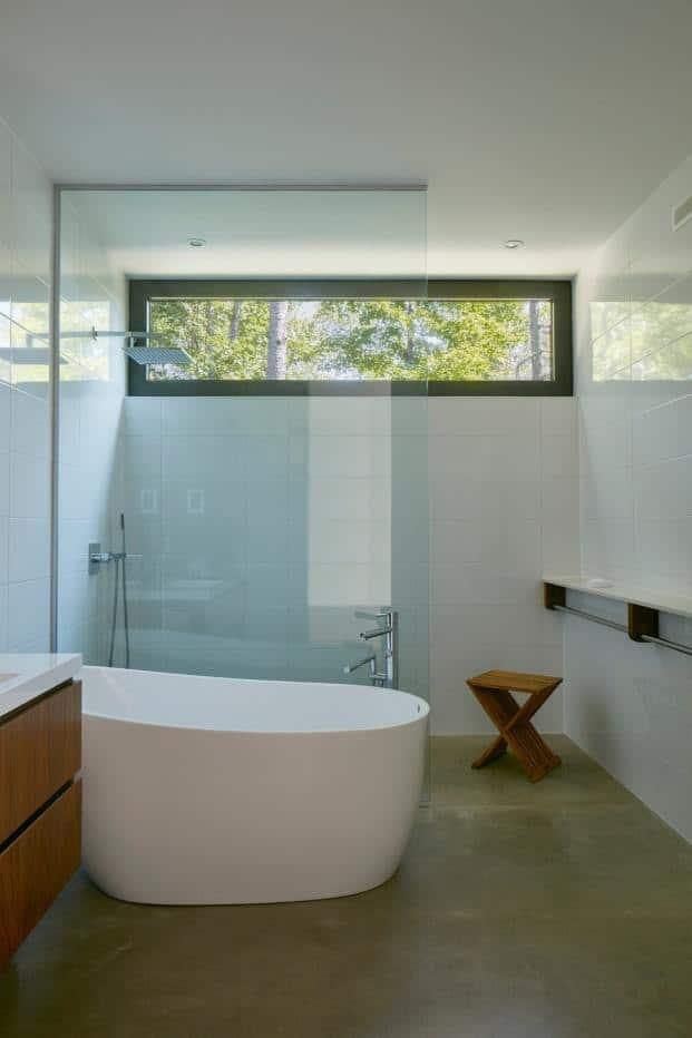 Una bañera muy moderna