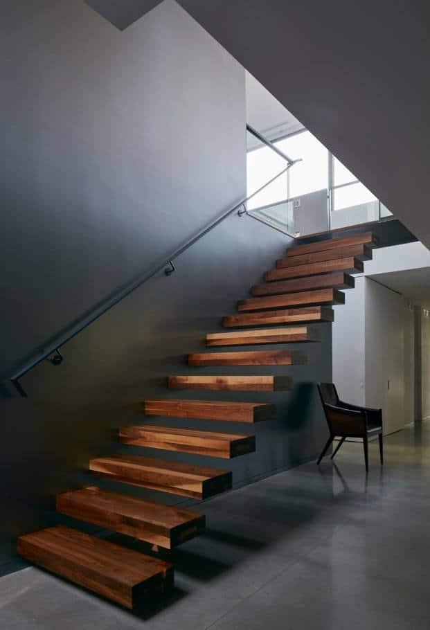 Pefectas escaleras flotantes