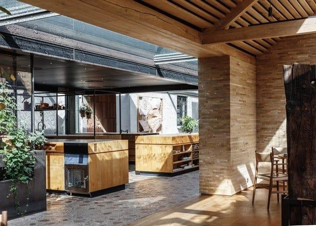 Diseño en madera moderno