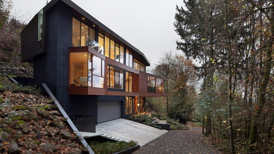 El diseño moderno de una casa